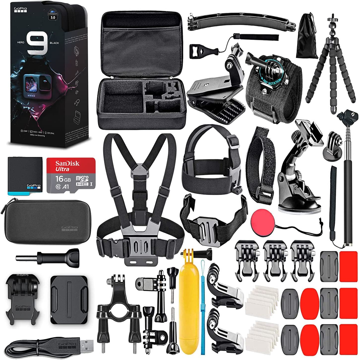GoPro HERO9 Black - Waterproof SALENEW very popular! Action Tou Popular brand with Camera LCD Front