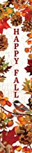 Custom Decor Leaves and Pinecones Welcome- Yard Expression Sign - 6 inch x 30 inch PVC Sign Licensed, Trademarked, Copyright by CDI. Made in The USA!