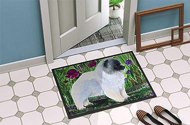 """Caroline's Treasures SS8424MAT Keeshond Indoor Outdoor Doormat, 18"""" x 27"""", Multicolor"""