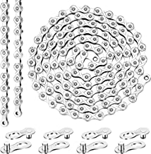 11 Speed Bike Chain, 116 Links Stainless Steel Bicycle Chain and 4 Pairs Bicycle Missing Link for 11-Speed Chain Bike Replacement and Repair