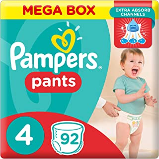 Pampers Pants Diapers, Size 4, Maxi, 9-14 kg, 92 Count