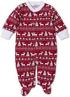 Kissy Kissy Unisex-Baby Infant Christmas Deer Print Footie