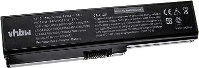 vhbw Akku passend f r Toshiba Satellite L755-12G  L755-13D  L755-13E  L755-13F  L755-13H Notebook  5200mAh  10 8V  Li-Polymer  schwarz