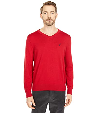 Nautica Navtech V-Neck Sweater (Red) Men
