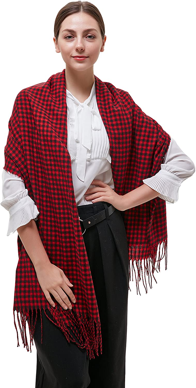 Ted and Jack  Ted's Classic Oversized Houndstooth Pattern Wrap