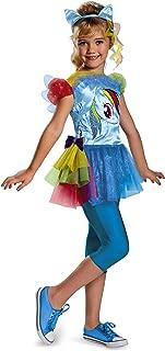 Hasbro's My Little Pony Rainbow Dash Classic Girls Costume, Medium/7-8
