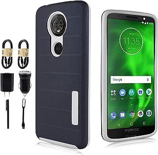 Moto E5 Plus / E5 Supra Case, Slim Protective Shockproof Cover for Motorola E5 Plus [Value Bundle] (Navy)