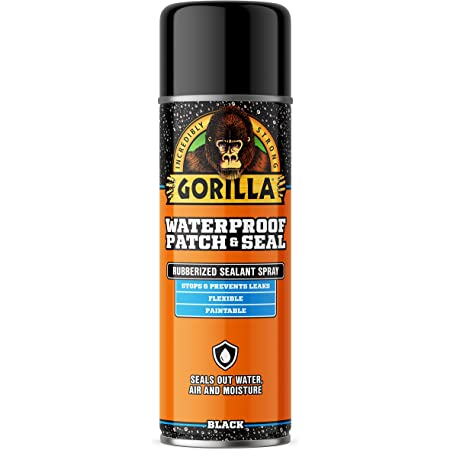 Gorilla Waterproof Patch & Seal Spray, Black, 16 Ounces (Pack of 1)