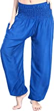 Boho Vib Women's Rayon Elephant Print Boho Harem Yoga Pants