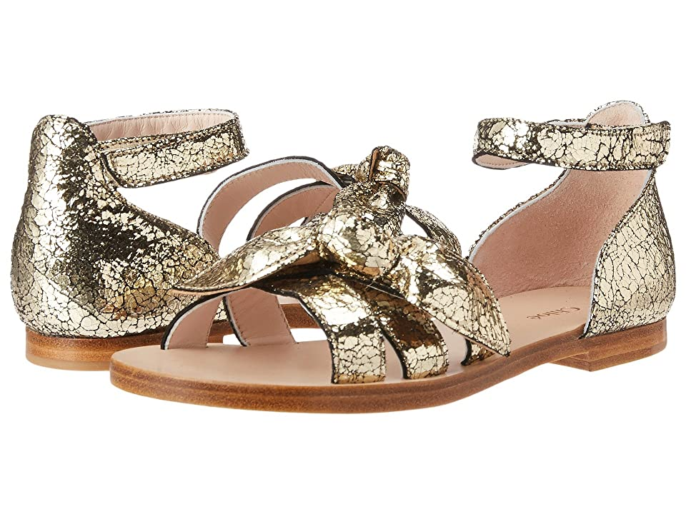Chloe Kids Mini Me Leather Sandals (Little Kid) (Dore) Girls Shoes