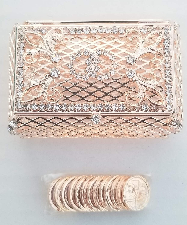 Elegant Arras Coin Set Factory outlet Wedding Bo Rose SALENEW very popular! Crystals Gold Embellished