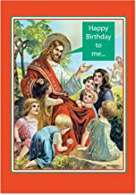 12 'Happy Birthday to Me' Boxed Christmas Cards with Envelopes (4.75 x 6.625 Inch), Funny Jesus Christ with Kids Christmas Notes, Silly Christian Holiday Notes, Religious Humor B1451
