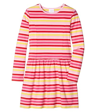 Toobydoo Skater Dress (Toddler/Little Kids/Big Kids) (Pink Striped) Girl