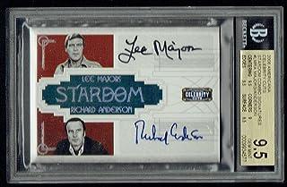 Lee Majors Richard Anderson signed autograph 2008 Americana 1/10 BAS 9.5 Auto 10