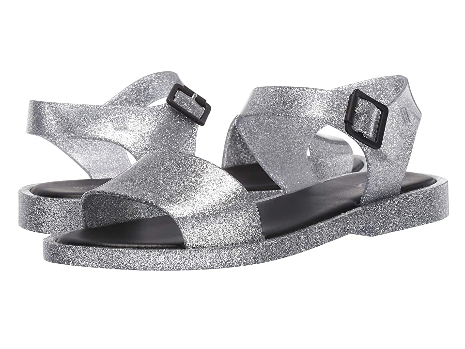 Melissa Shoes Mar Sandal (Silver/Glitter Black) Women