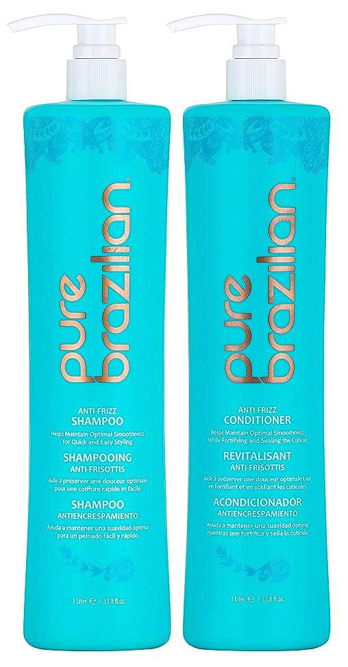 Pure Brazilian -Anti-Frizz Daily Shampoo and Conditioner Duo Set (1 Liter/ 33.8 Fl. Ounces)