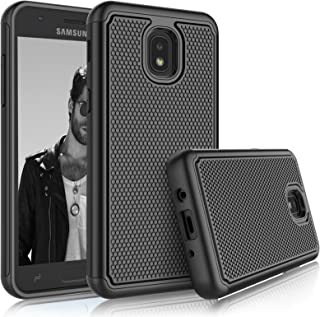 Tekcoo for Galaxy J7 2018 Case, for J7 Star/J7 Refine/SM-J737/J7 Aura/J7 Aero Sturdy Case, [Tmajor] Shock Absorbing [Black] Rubber Silicone & Plastic Bumper Cute Hard Cases Cover for Samsung J7 Eon
