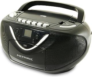 comprar comparacion Metronic 477131 - Radio CD / MP3 cassette, negro