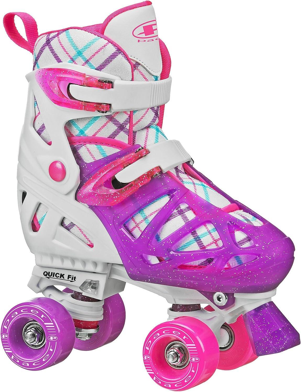 Pacer XT70 Childrens Superlatite Quad Roller with Adjustable Skates Sizing New color