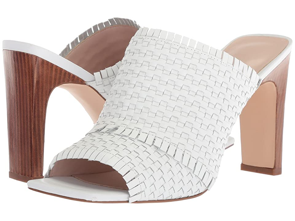 Nine West Lucili Slide Sandal (White Leather) Women