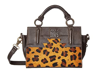 STS Ranchwear Flat Rock Mini Satchel (Leopard/Black) Handbags