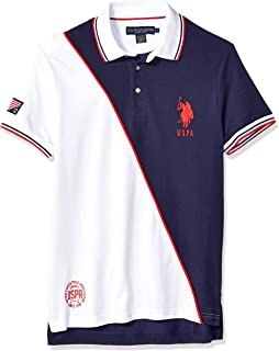 U.S. Polo Assn. Men's Slim Fit Diagonal Color Block Polo...