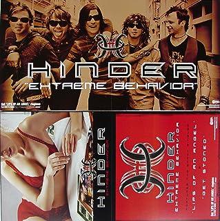 Hinder - Extreme Behavior - Two Sided Poster - New - Rare - Joe Garvey - Cody Hanson - Austin Winkler - Mark King - Mike Rodden - Lips Of An Angel