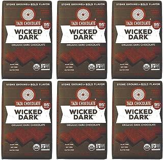 Taza Chocolate Organic Amaze Bar 95% Stone Ground, Wicked Dark, 2.5 Ounce (6 Count), Vegan