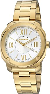Wenger Men's Quartz Watch analog Display and Stainless Steel Strap, 01.1141.122