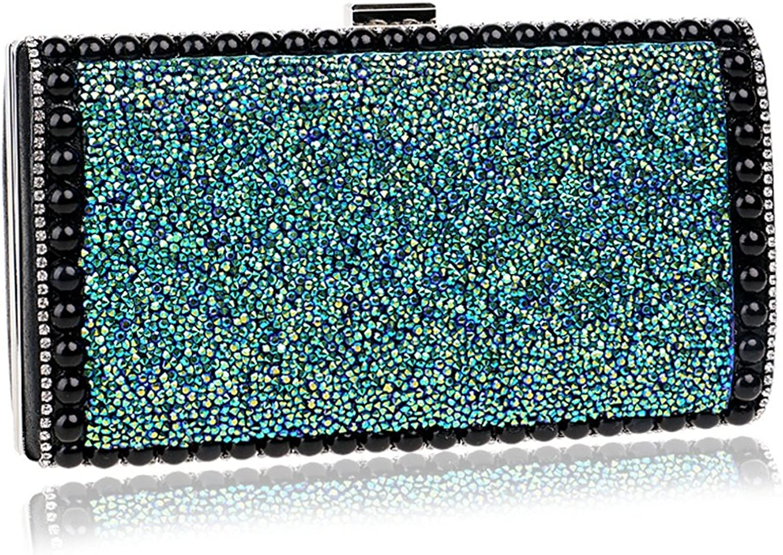 KYS Metall Grüne Diamanten Frauen Abendtaschen mit Kette Schulter Handtasche Handtasche Handtasche Abendtasche Friesen Strass Party Hochzeit Brieftaschen B07FKSY7PQ  Qualitätskleidung eb4d0a