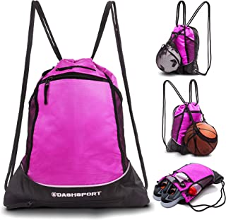 db9dfe6289e9 Drawstring Bag with Mesh Net - Sackpack with Ball Net for All Sports -  Soccer Bag
