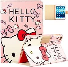 Logee Kitty Case for iPad Mini 1/2/3/4,PU Leather Cartoon Animal Cute Design Stand Wallet Folio Soft Smart Function Cover,Kawaii Fashion Fun Cool Protective Flip Cases for Kids Teens Girls(Mini1/2/3/4