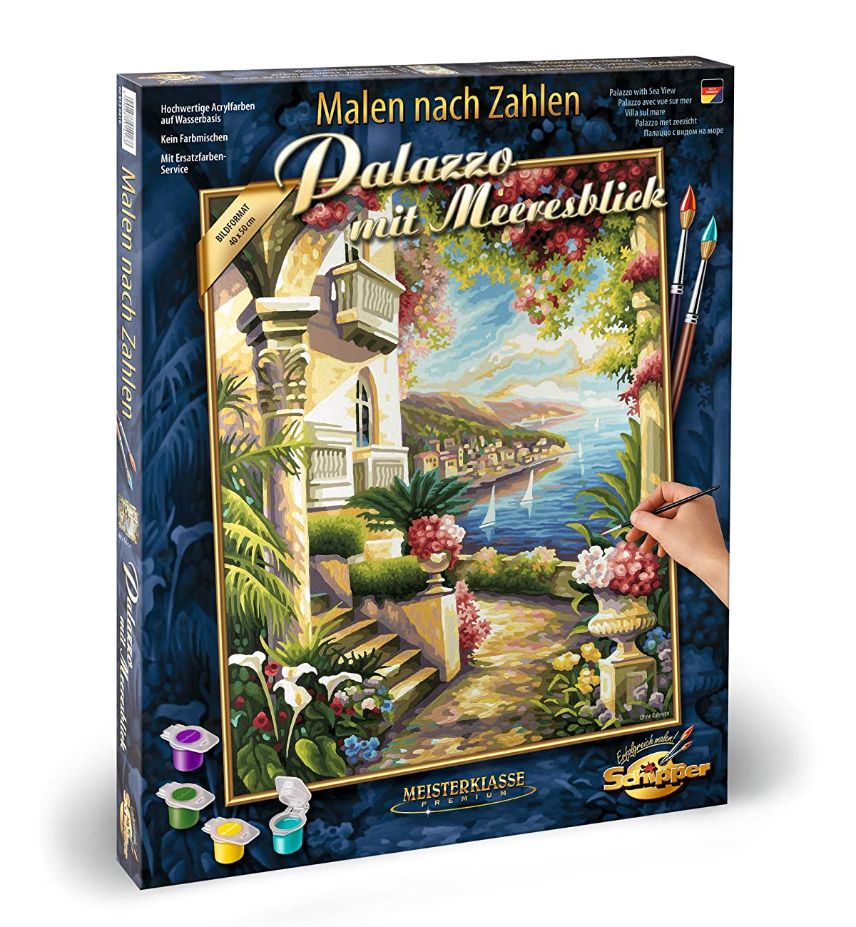 Norris Paint by#S: Palazzo with A View of The Sea Paint by#