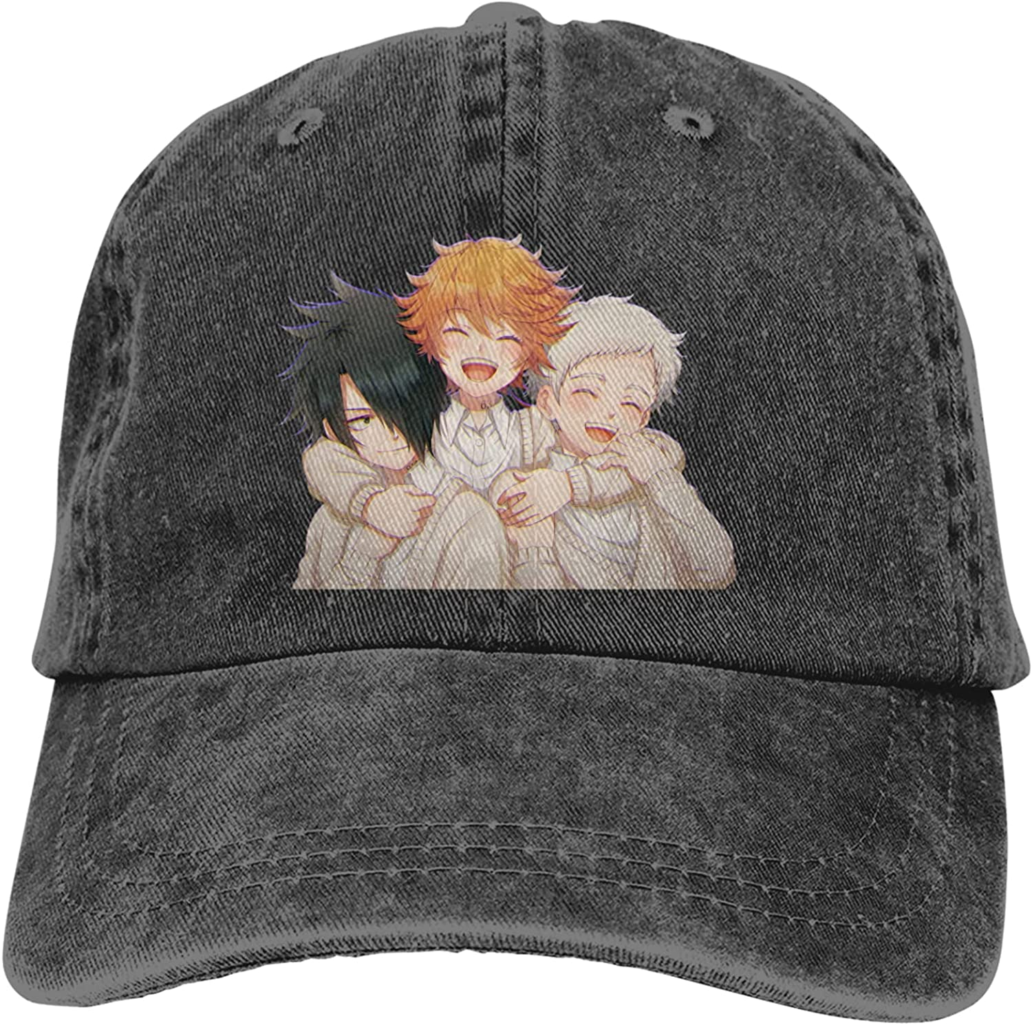 The Promised Neverland Men's and Women's Baseball Caps Cowboy Hats Can Be Adjusted Retro Washing