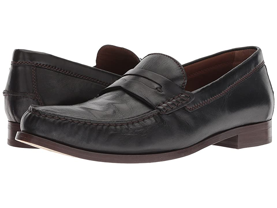 Men's Swing Dance Clothing, Vintage Dance Clothes Trask Sadler Black Sheepskin Mens Slip on  Shoes $195.00 AT vintagedancer.com