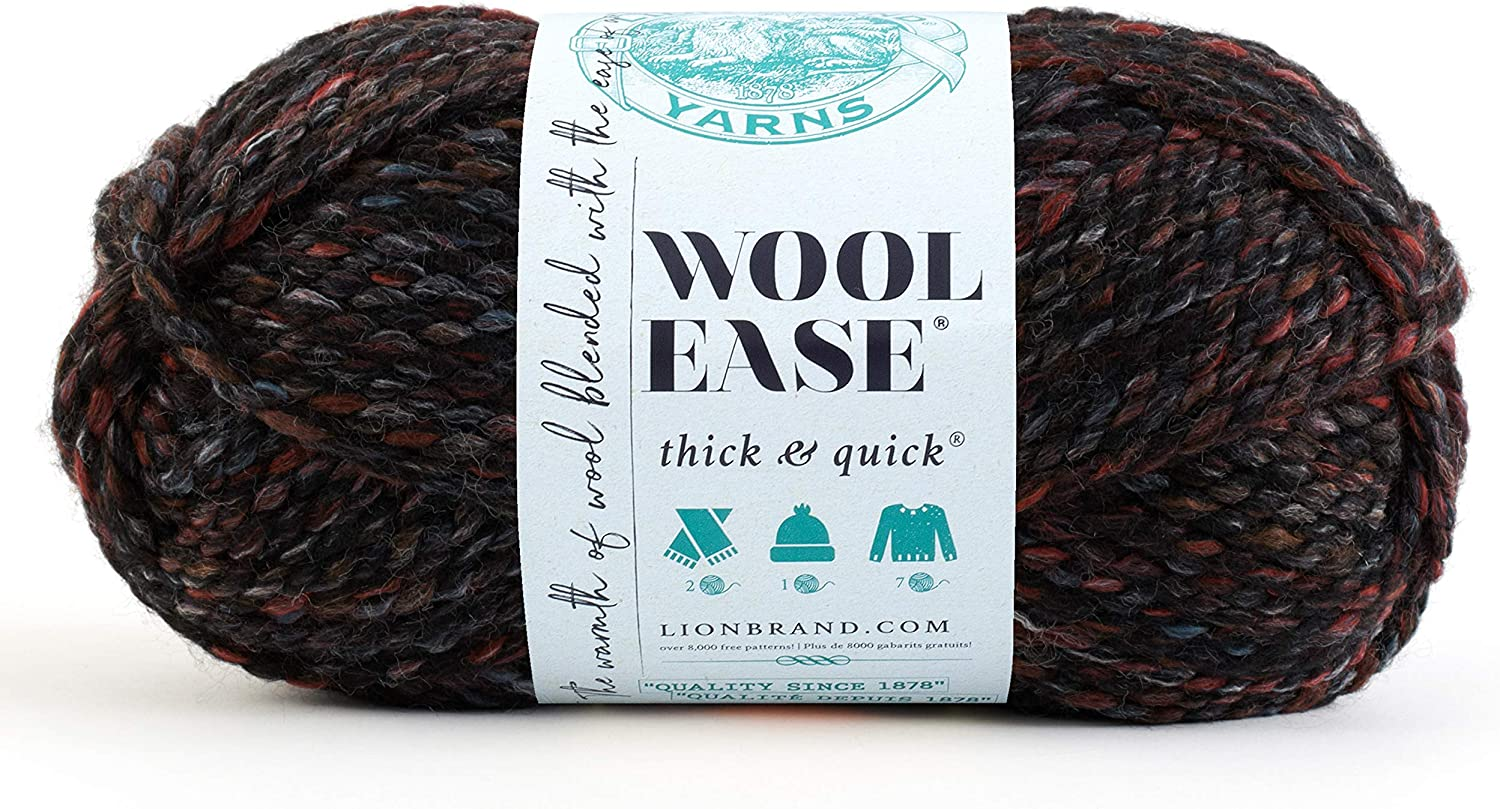 Lion Brand Yarn 640-506 Wool-Ease and Thick Blacksto Cheap Sale Sales Venue Quick