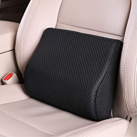 Black Multi-Use Memory Foam Lower Back Cushion with Ergonomic Streamline Bed Lumbar Support Pillow for Car Seat Upgraded for Waist /& Hip Pain Relief by Shakerino Perfect for Car Driver Recliner
