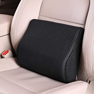 TISHIJIE Memory Foam Lumbar Support Pillow for Car - Mid/Lower Back Support Cushion - for Car Seat, Office Chair, Recliner...