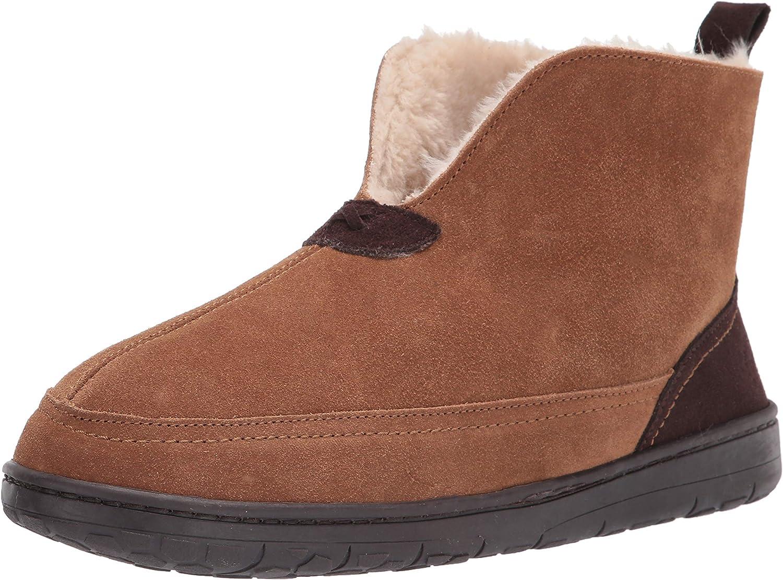 Dearfoams Large-scale sale Men's Suede Slipper specialty shop Boot