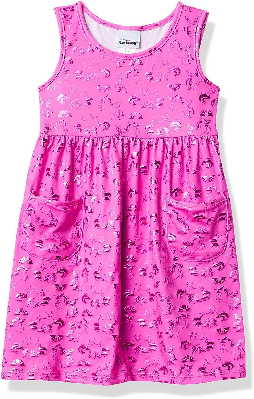 Flap Happy Baby Girls' UPF 50+ Dahlia Sleeveless Dress W/Pockets