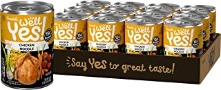 Campbell's Well Yes! Chicken Noodle Soup, 15 Grams of Protein, 16.2 Ounce Can (12 Pack)