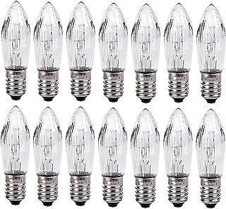 YSSMAO Bombilla De Lámpara De Repuesto De 14 Piezas E10 Base De Rosca De Rosca Bombillas De Luz De Vela para Cadenas De Luz 34V 3W para Baño Cocina Decoración De Bombilla para El Hogar