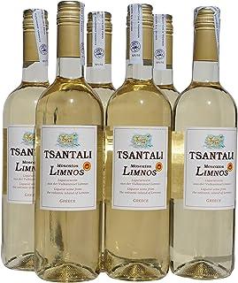 6x 750ml Tsantali Moscatos Limnos Weißwein edelsüß griechischer Muscat-Wein 15% Süßwein Likörwein Dessertwein Set sortenrein  2x10ml Olivenöl von Kreta Griechenland