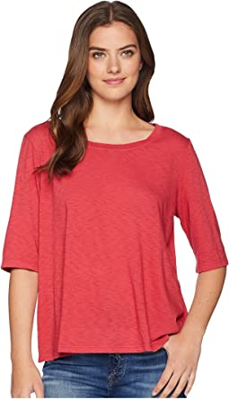 Supima® Cotton Slub Elbow Sleeve Swing Tee