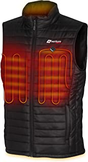 Men's Heated Vest with Battery Pack - Insulated Electric Jacket Warming Layer (Puffer or Canvas)