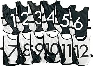Sponsored Ad - LVL10 Sports Pinnies - Reversible and Numbered Practice Vest Pennies for Soccer, Basketball Team Scrimmages...