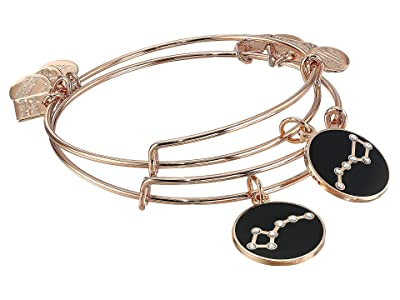 Alex and Ani Charity By Design, Big and Little Dipper Set of 2 Charm Bangle (Shiny Rose) Bracelet