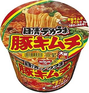 日清食品 デカうま 豚キムチ 101g ×12個