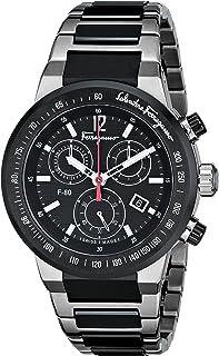 Salvatore Ferragamo Men's F55030014 F-80 Analog Display Swiss Quartz Black Watch