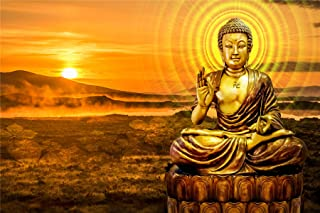 Puzzles for Adults 500 Piece Floor Puzzle Buddha in The Sunset Large Puzzle Family Creative Game Toys Gift Challenging Edu...